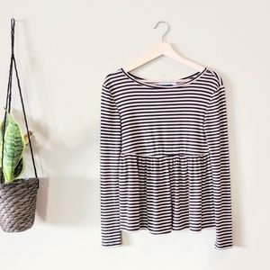 URBAN OUTFITTERS First Date Long-sleeve Peplum Tee